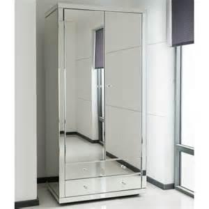 Romano crystal mirrored wardrobe venetian mirrored furniture