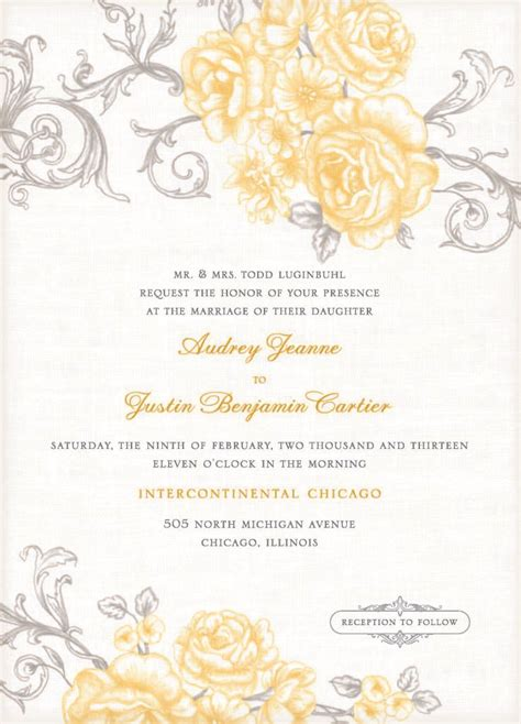 Wedding Invitation Ms Word by Free Wedding Invitations Templates For Microsoft Word