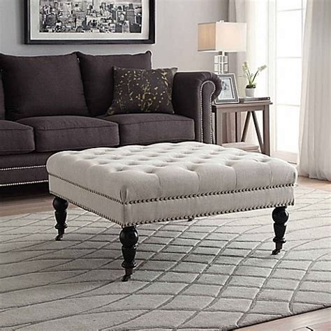 isabelle square tufted ottoman bed bath