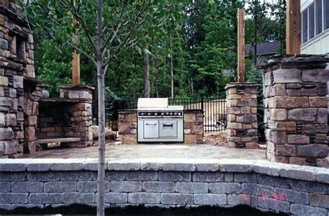 backyard patio stone outdoor patio grill and fireplace natural stone yoder masonry inc