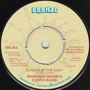 Blinded By The Light Song Bruce Springsteen Lyrics Blinded By The Light Manfred