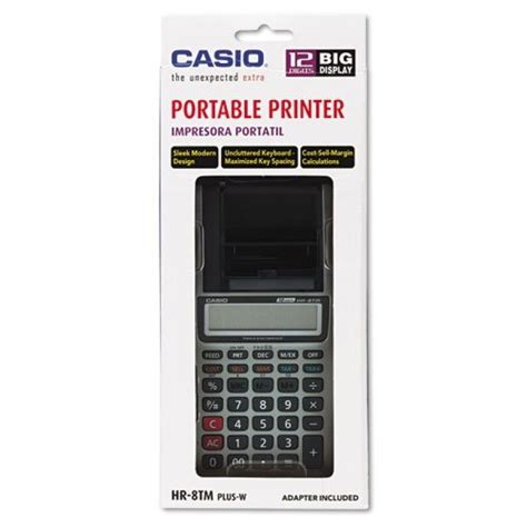 Kalkulator Casio Hr 8tm By Mega E casio hr 8tm handheld portable one color printing