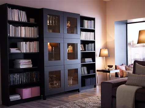 besta bookshelf best 197 cabinet with tempered glass doors and billy