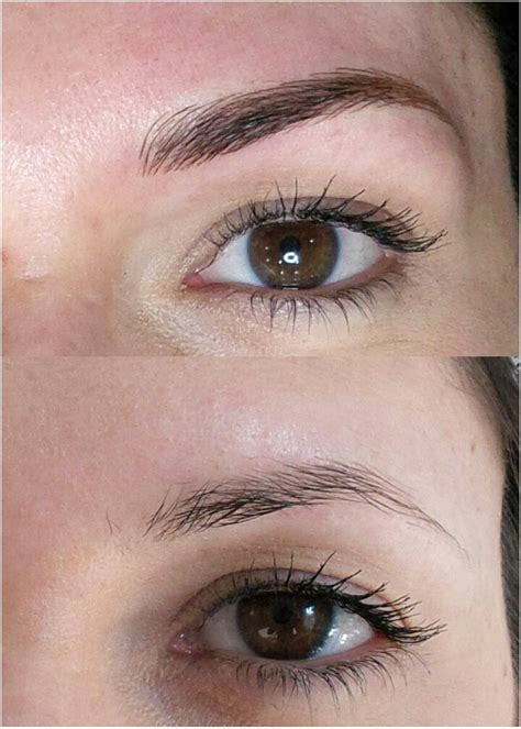 hair tattoo before and after microblading eyebrows gallery