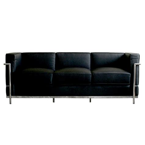 le corbusier leather sofa wholesale interiors le corbusier black leather sofa