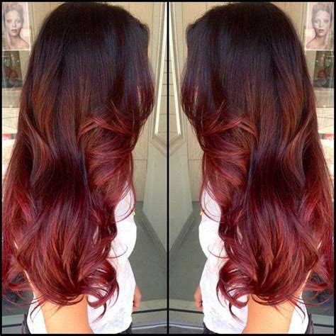 hair dye black irish light brown hair with burgundy ombre red and blonde