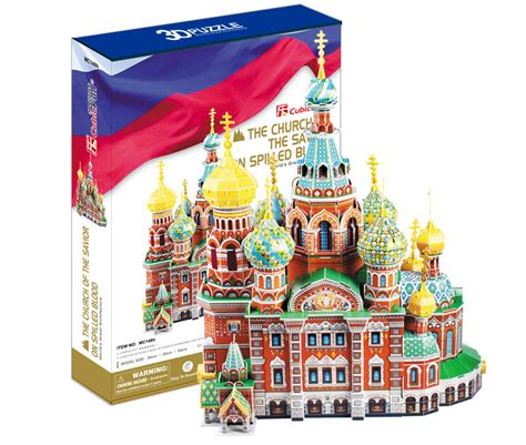Puzzle 3 D 37 the church of the savior on spilled blood 3d puzzle puzzlewarehouse