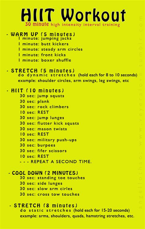 20 hiit weight loss workouts that will shrink belly