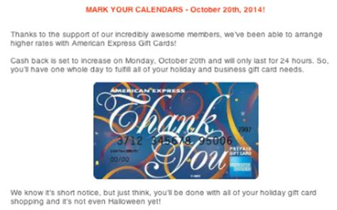 How To Cash Out American Express Gift Card - one day only increased payout at big crumbs for amex gift card