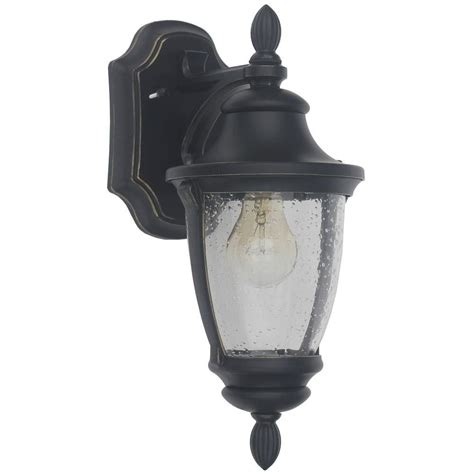 home lighting collections home decorators collection wilkerson 1 light black outdoor