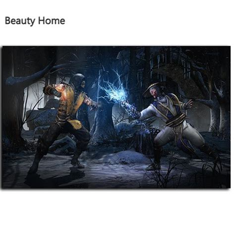 living room mk mortal kombat x raiden scorpion canvas painting painting wall pictures for living room wall