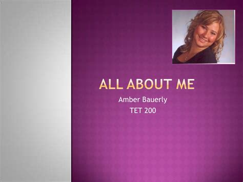 All About Me Powerpoint About Me Powerpoint Template