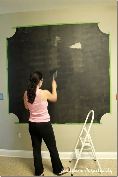 chalkboard paint on canvas a chalk board wall with frogtape