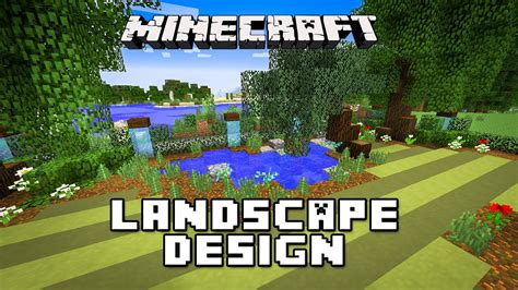 house builder design guide minecraft minecraft tutorial landscaping design for pond trees and