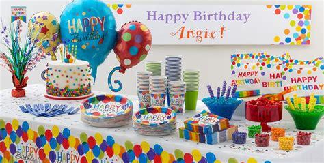 birthday themes at party city rainbow balloon bash birthday party supplies party city