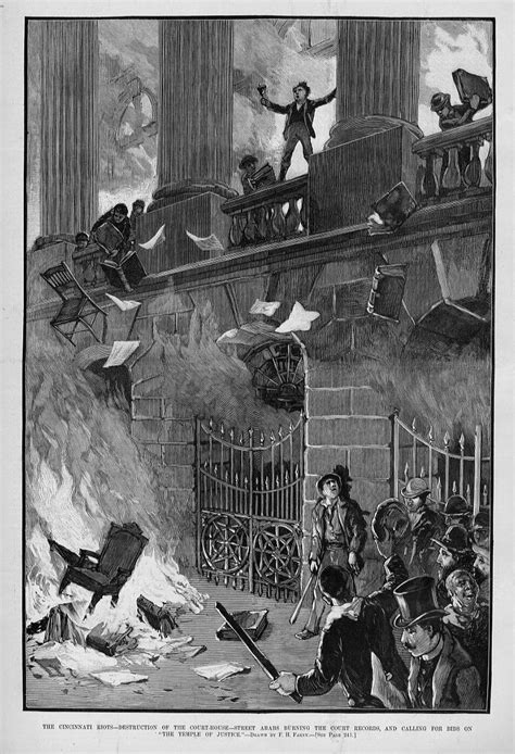 St Court Search Cincinnati Riots Of Court House Arabs Burning Court Records Ebay