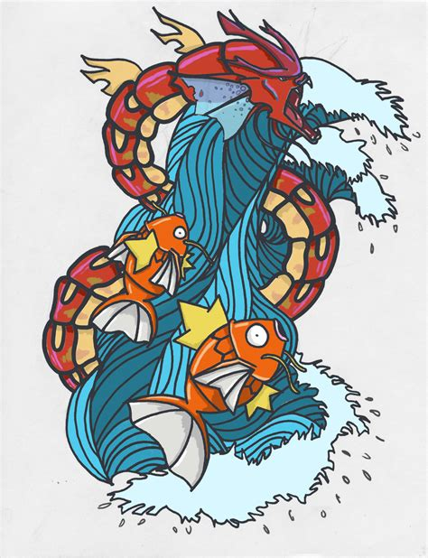 magikarp tattoo gyarados by bbschoes on deviantart