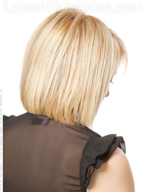 medium hair stacked in back stacked bob hairstyles back view pastel princess bob
