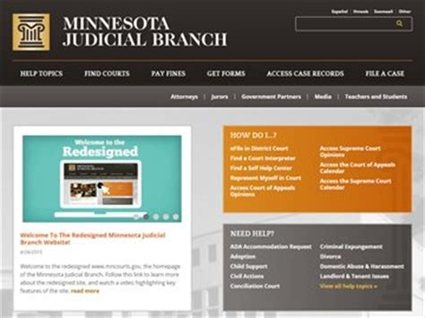 Minnesota Judicial Search Top 10 Kentico Websites For July 2015