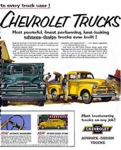Chevrolet Advertising 54 Chevy Get Outta Town Onna Ground