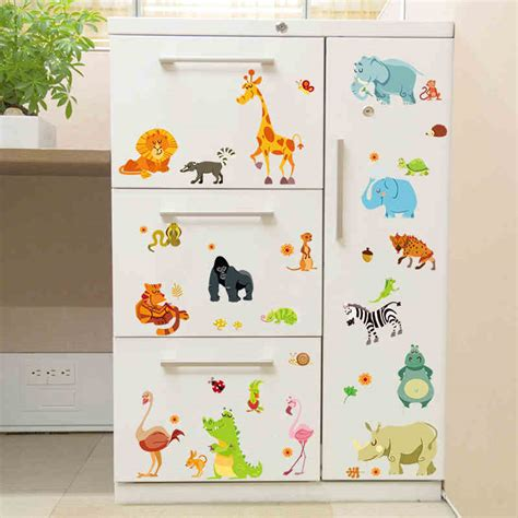jungle forest animals zoo elephant snake diy home decals wall stickers safari nursery rooms
