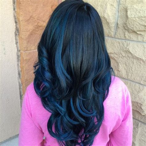 black hair w highlights 40 fairy like blue ombre hairstyles