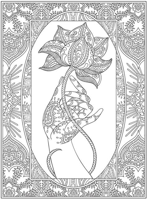 mehndi patterns coloring pages henna coloring page from dover publications http www