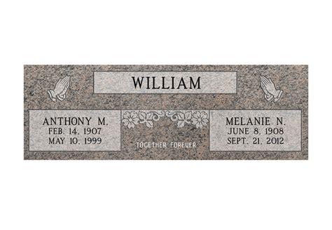 Mf01 Flat Double Grave Marker Headstone 36 Quot X12 Quot X4 Quot P1swn Grave Marker Template