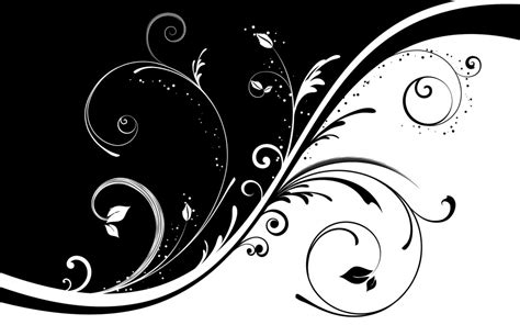 wallpaper tribal hitam putih background bunga hitam putih free download clip art
