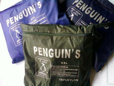 Jas Hujan Pinguins jual perlengkapan atribut konveksi lengkap murah