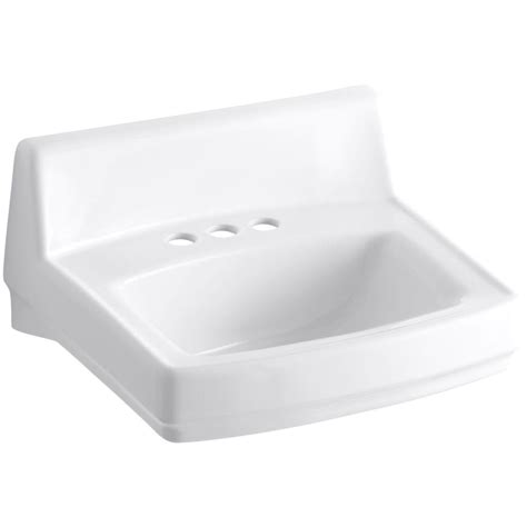 kohler wall hung sink kohler greenwich wall mounted vitreous china bathroom sink