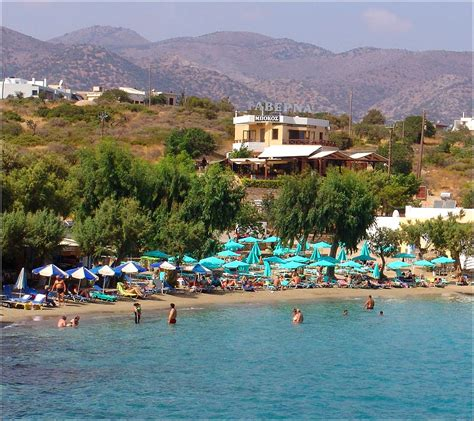 agios nikolaos crete greece beach agios nikolaos in crete greece view of ammoudi beach in