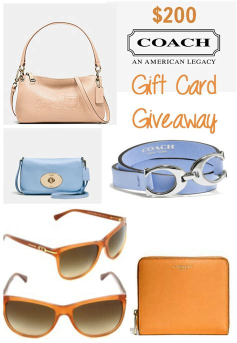 Gift Card Coach - 200 coach gift card giveaway fashionistaevents how was your day