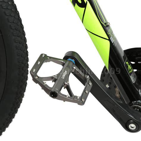 mountain bike shoes for platform pedals mtb bmx road mountain bike platform pedals flat alloy
