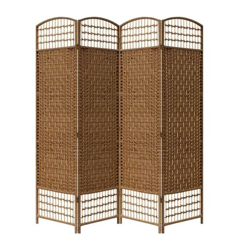 ore international 5 56 ft brown 4 panel room divider