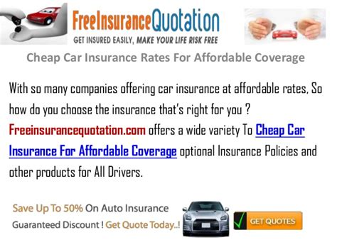 Cheap Car Insurance Rates For Affordable Coverage
