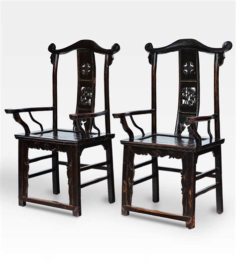 sedie cinesi coppia di sedie cinesi laccate nere legno di olmo cod