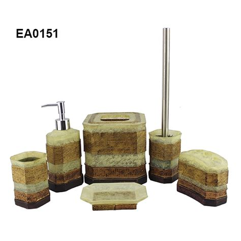 primitive bathroom accessories resin bathroom accessories set shenzhen hongying arts and