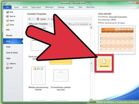 make calendar in word how to make a calendar in word with pictures wikihow