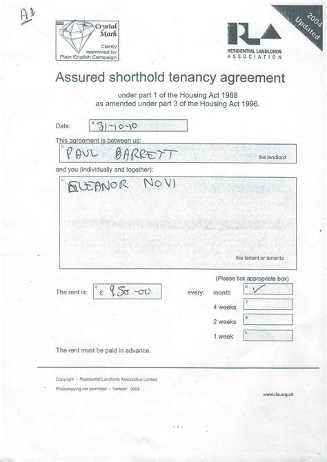 assured tenancy agreement template assured tenancy agreement scotland template free