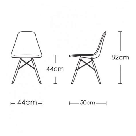 eames lounge chair measurements replica eames dsw chair plastic nathan design