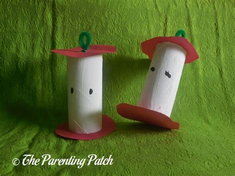 Toilet Paper Craft - toilet paper apple craft parenting patch