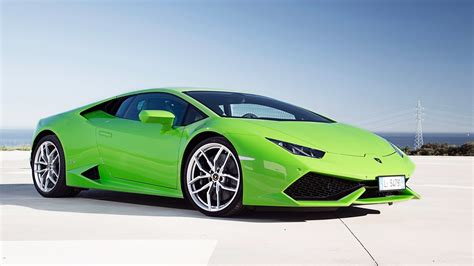 lamborghini huracan lp  green wallpaper hd car
