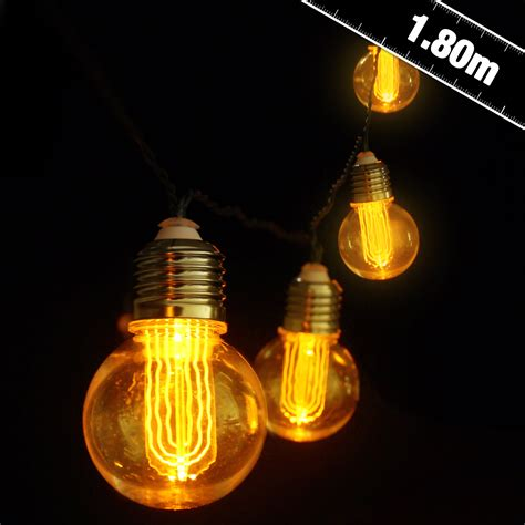 battery operated string light bulbs battery operated nostalgia bulb string lights