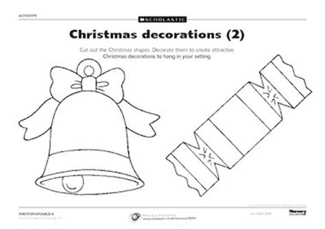 christmas decorations templates 2 free early years