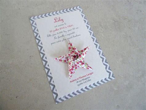 Carte Origami - faire part de naissance bapt 234 me carte de remerciement