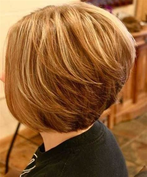 womens short bob haircut front and back pic of short hair stacked in the back and long in front