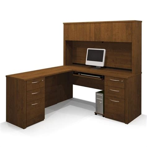 bestar embassy l shaped workstation with 2 assembled