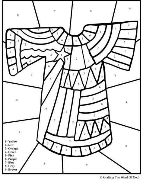 joseph and the coat of many colors joseph and the coat of many colors coloring page az