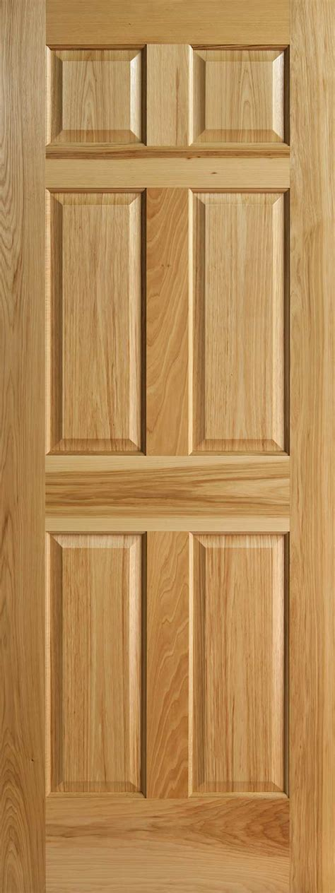 6 Panel Wood Doors by Hickory 6 Panel Interior Doors With Raised Panels